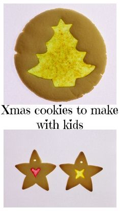 xmas-cookies-pinterest Christmas Crafts For Kids To Make, Christmas Ornaments To Make, Easy Crafts For Kids, Christmas Activities, Simple Christmas, Diy For Kids, Christmas Holidays, Stained Glass Christmas, Hanging Ornaments