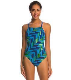 NWT $54 Speedo Race Space Jammer PowerPLUS Blue Black Performance Swimsuit Men/'s