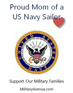 Proud Mom of a US Navy Sailor - created for http://facebook.com/MilitaryAvenue and yours to share