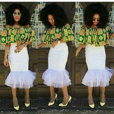 Ankara fabric continues to maintain a trend we just can't help but love, hence we have to keep up with the amazing styles fashionistas are rocking. There are numerous designs… African Print Fashion, African Fashion Dresses, Fashion Prints, Fashion Design, African Prints, Fashion Styles, Ankara Fashion, African Wear, African Women