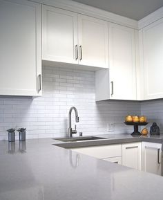 """The """"Tired Tile to Contemporary Quartz"""" Kitchen Makeover — Renovation Project"""