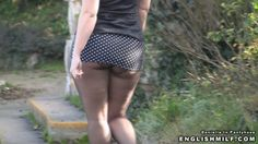 public #pantyhose mini skirt and tights #flashing #tights