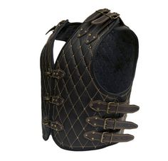 Your place to buy and sell all things handmade Moto Biker, Motorcycle Vest, Biker Gear, Motorcycle Leather, Motorcycle Style, Leather Armor, Leather Vest, Leather Backpack, Vikings