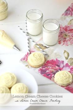 Lemon Cream Cheese Cookies with Lemon Cream Cheese Frosting @dairygood #ad #bh