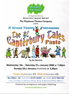 The Canterbury Tales Panto Poster - January 2006