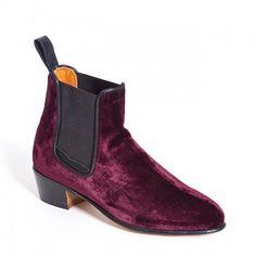 Penelope Chilvers Cubana Boot - Claret Velvet