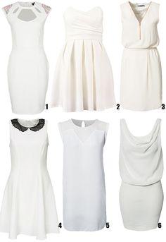 Little black dress:6 gorgeous white dresses/mooie witte jurken | Vrouwonline.nl