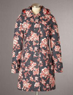 Boden's Rainy Day Mac, Charcoal Heritage Petal