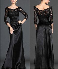 long black evening dresses