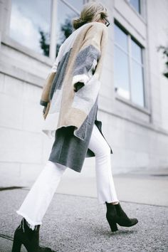 Visit the post for more. Winter Layering Outfits, Fall Winter Outfits, Winter Fashion, Happily Grey, Grey Cardigan, Fashion Over 40, Cozy Sweaters, Editorial Fashion, What To Wear