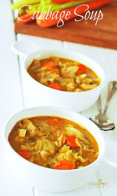 Vegan Cabbage Soup Recipe Perfect solution to help us shed those unwanted pounds!