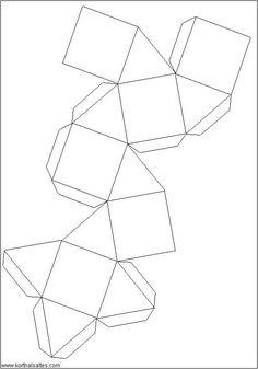 Recortables de figuras geométricas| Cubooctaedro