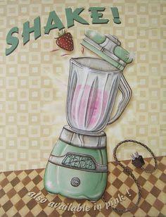 Tudo Perfeito: PÔSTERES RETRÔ PARA COZINHA Mais Cute Kitchen, Kitchen Art, Vintage Kitchen, Decoupage Vintage, Vintage Decor, Retro Vintage, Retro Poster, Vintage Posters, Cupcake Party