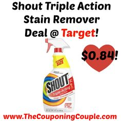 Shout Stain Remover, Laundry, TripleActing, Value Pack