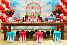 Circus themed birthday party via Kara's Party Ideas KarasPartyyIdeas.com #circusparty #bigtocircus #circuspartyideas (18)