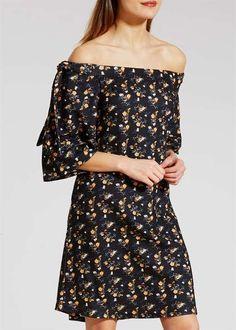 Floral Print Bardot Dress