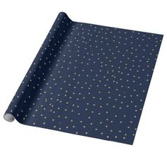 Navy And Gold Stars Wrapping Paper | Zazzle.co.uk