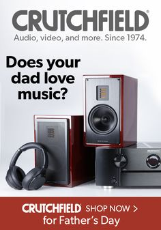 Whether your dad& into vintage vinyl, high-res digital audio, classic hi-fi rigs, or just streaming tunes from a smartphone -- we& got you covered. You can find a great Father& Day gift at Crutchfield. Great Father's Day Gifts, Mini Things, Digital Audio, Home Theater, Music Lovers, Rigs, Fathers Day Gifts, Inventions, Smartphone