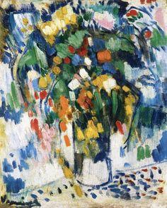 lawrenceleemagnuson:  Maurice de Vlaminck (France 1876-1958)Vase off Flowers (1905-1906)oil on canvas 47 x 39cm