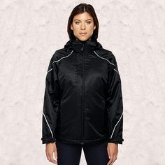 more photos 71237 2e11d Ash City - North End 78196 Ladies  Angle Jacket With Bonded Fleece Liner  Black 703 Xl