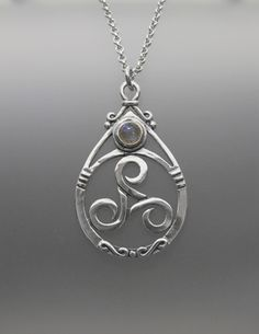 Ceridwen Gem Pendant (sterling) Just lovely.  I'd probably choose a Moonstone for the accent stone.