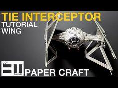 TIE Interceptor (step by step tutorial-wing) - YouTube