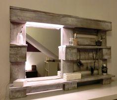 Diy Bathroom DIY Spiegel für das Badezimmer aus einer Palette gebaut (Diy Bathroom Design)