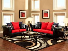 Black and Red Living Room. 20 Black and Red Living Room. Simple Black and Silver Living Room Ideas Black And Red Living Room, Red Living Room Decor, Burgundy Living Room, Paint Colors For Living Room, Rugs In Living Room, Interior Design Living Room, Living Room Furniture, Living Room Designs, Interior Paint