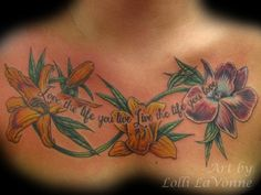 flower chest tattoo piece - 40 Nice Chest Tattoo Ideas  <3 <3