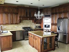 Beautiful Chocolate Maple Glazed cabinets will bring a sophistication to any kitchen.   Click on link to call us today for a free kitchen makeover estimate.