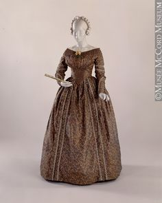 Dress 1843 The McCord Museum