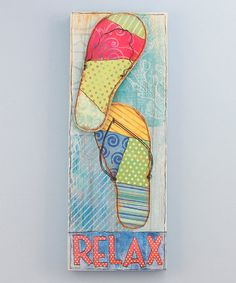 Take a look at this 'Relax' Flip-Flop Wall Art by Young's on #zulily today!