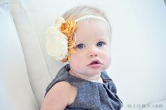 Vintage mustard headband by sophiemorgan on Etsy, $12.99  Photo by Alicia Nye photography!