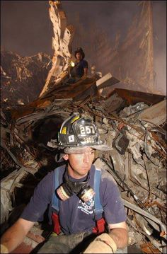 9/11, september 11, 2001, firefighter, heroes, the day the world changed, powerful, rubbles, never forget, photograph, photo