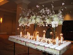 weddings florist washington dc - www.davinciflorist.us: Mandarin Oriental -Our new lucite table with cherry blossoms and phalaenopsis orchid...