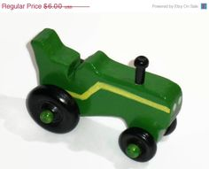 ON SALE Pocket Car  Mini Tractor by KentsKrafts on Etsy, $4.80