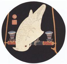 伊藤若冲(Ito Jakuchu)「鸚鵡図」