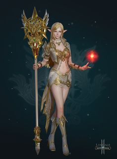 ArtStation - Lineage Elf Mage/ real-time fan art, Gahyung Lee