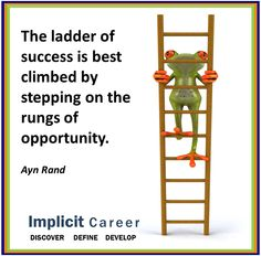 Success ladder frog quote Frog Quotes, Ladder, Success, Wisdom, Change, Scale