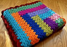 Granny Log Cabin Blanket