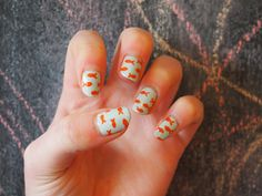 Goldfish nails! From /u/marthagiraffe on reddit