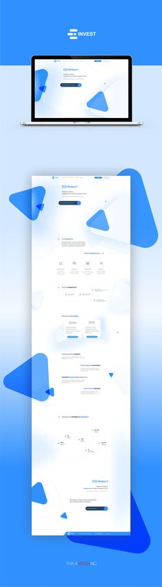 Web redesign project ICO INVEST for management on Behance