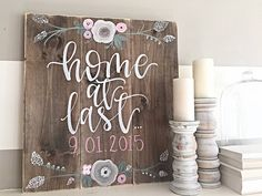 Wood Sign  Hand Painted  Rustic Decor  Home by SalvagedChicMarket