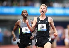 Galen Rupp defeats Bernard Lagat in the Olympic Trials 5000-meter run