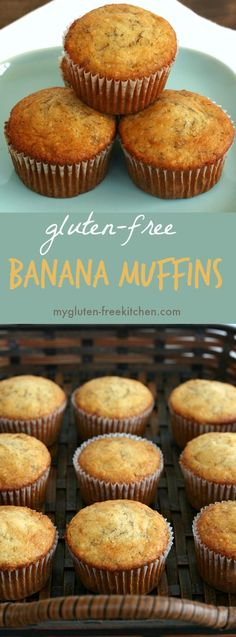 Gluten-free Banana Muffins Recipe. These freezer friendly muffins are great to have on hand for a portable breakfast.