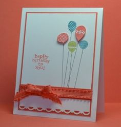 Patterned balloons Stampin Up Idea #2