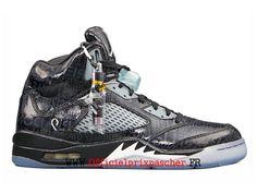new concept 24faf fdbf6 Air Jordan 5 V Retro GS Exercice Chaussures Officiel Jordan Pas Cher Pour  Femme Trésor gris