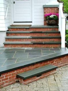 stamped to #brick, #porch #steps