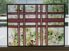 US Made Stained Glass Quilt Window