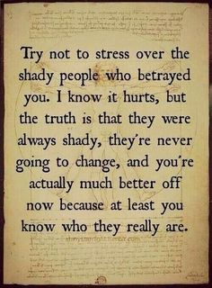 Not stressing anymore out with the fake two faced friends and in with the loyal and honest friends!!